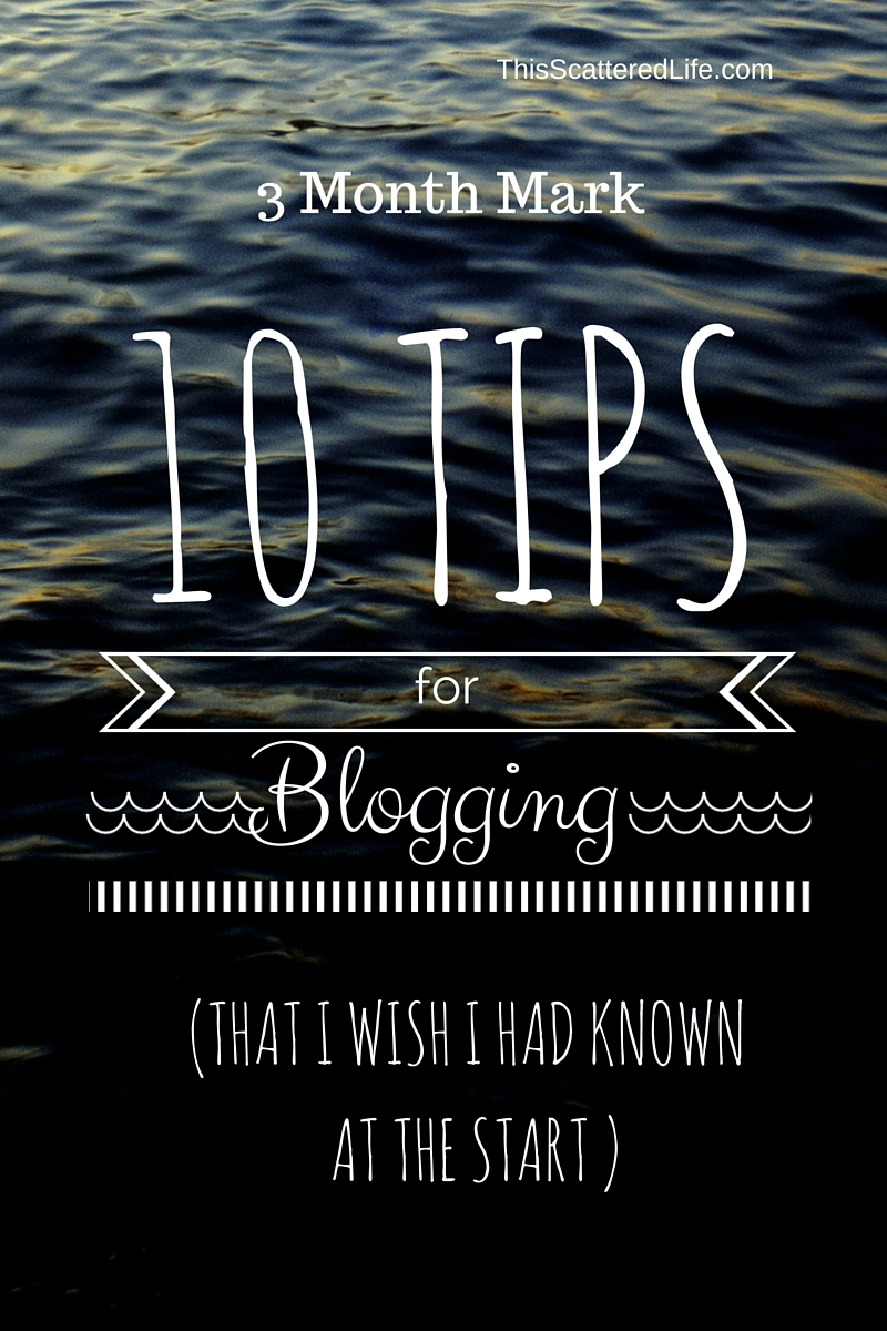 Blogging advice from my first 3 months.